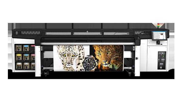 Stampante Sala demo Mca Digital prodotta da HP